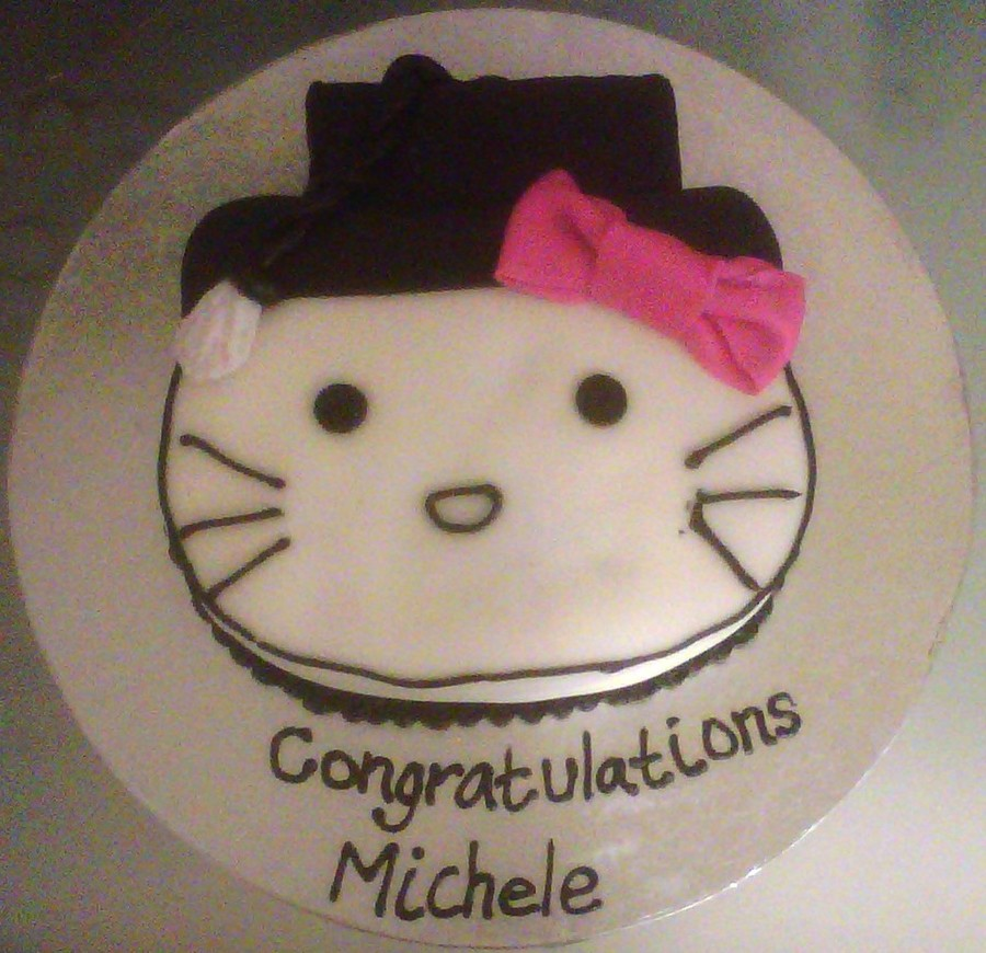 Hello Kitty Graduation Cake on Cake Central