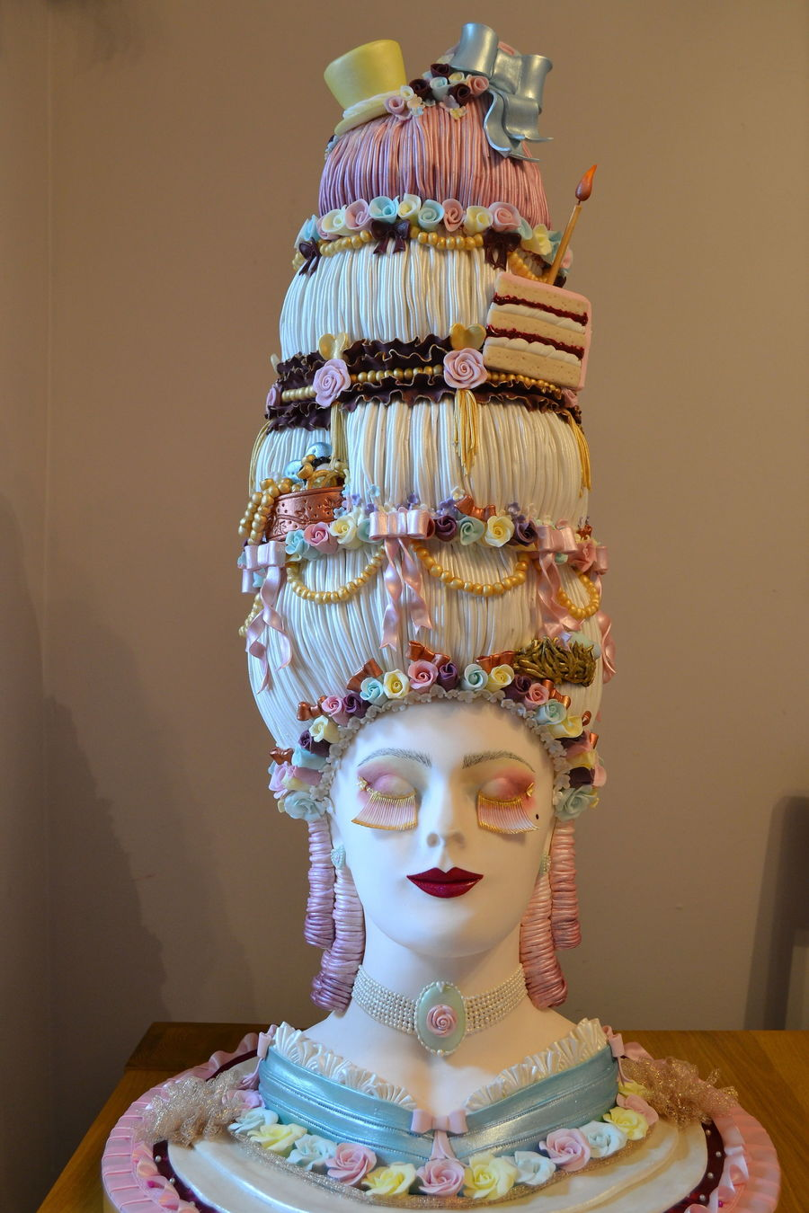 This is a decorative exhibit made for a competition at for Art cake decoration