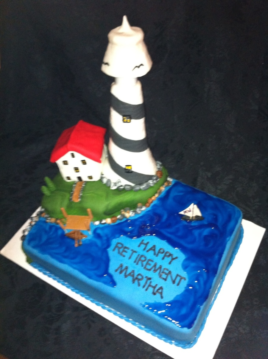 Lighthouse Retirement Cake on Cake Central