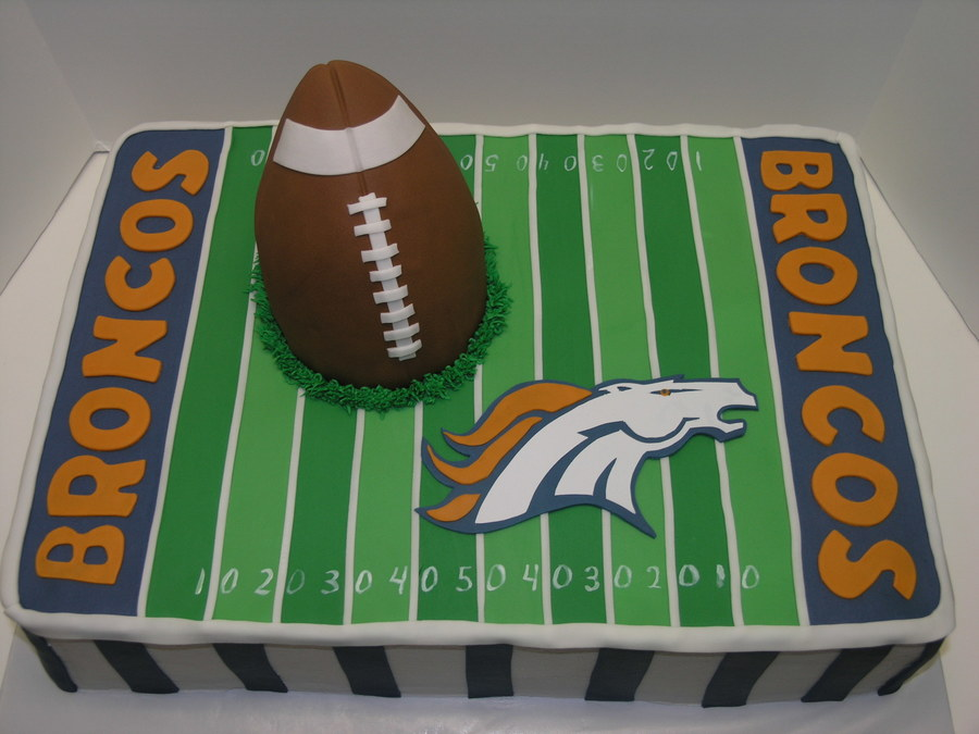Phenomenal Denver Broncos Cakecentral Com Birthday Cards Printable Trancafe Filternl