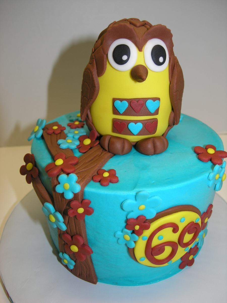 Retro Owl on Cake Central