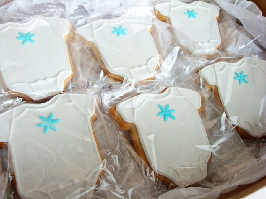 These Individually Packaged Vanilla Sugar Cookies Piped With Royal Icing Were Used As Giveaways For Vivians Baby Shower What Better Way To... on Cake Central