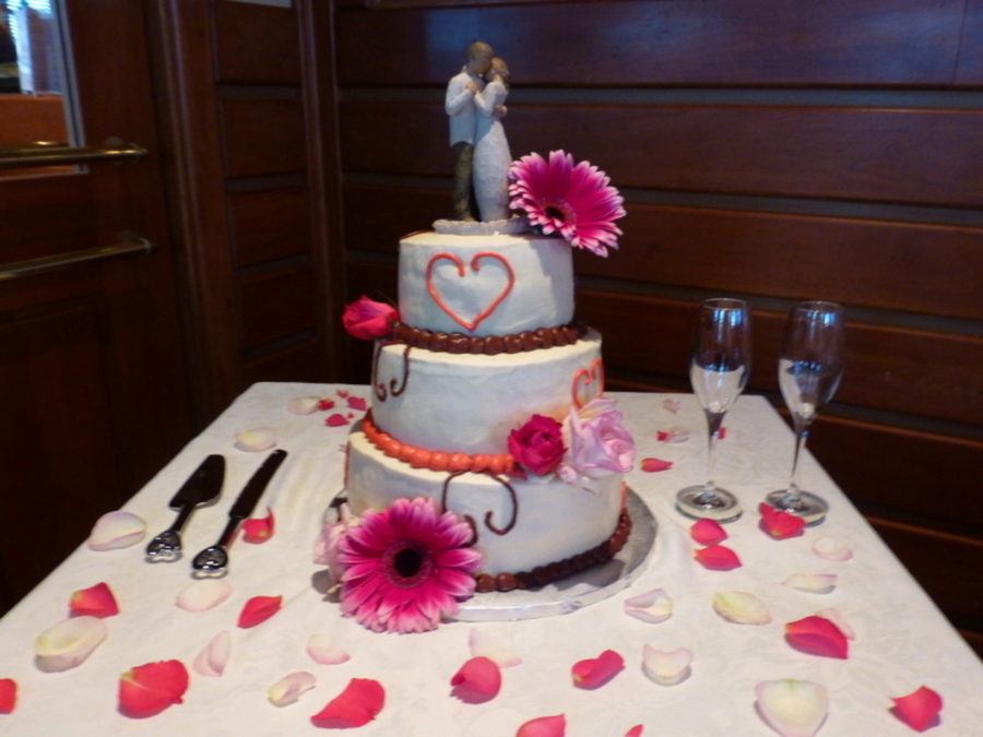 Heart Wedding Cake on Cake Central