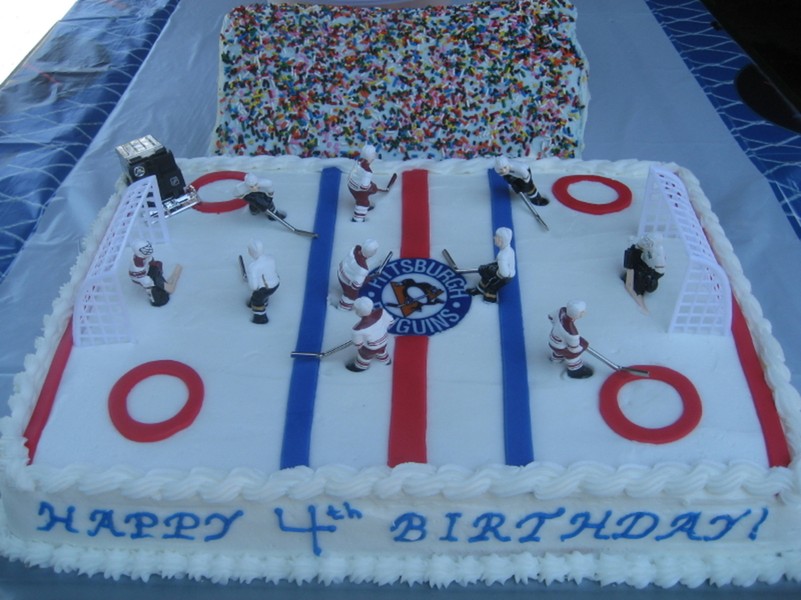 Hockey Rink on Cake Central