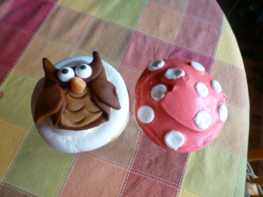 Owl & Mushroom Cupcakes on Cake Central