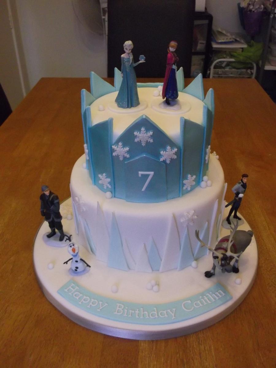 Frozen Castle Cake CakeCentralcom