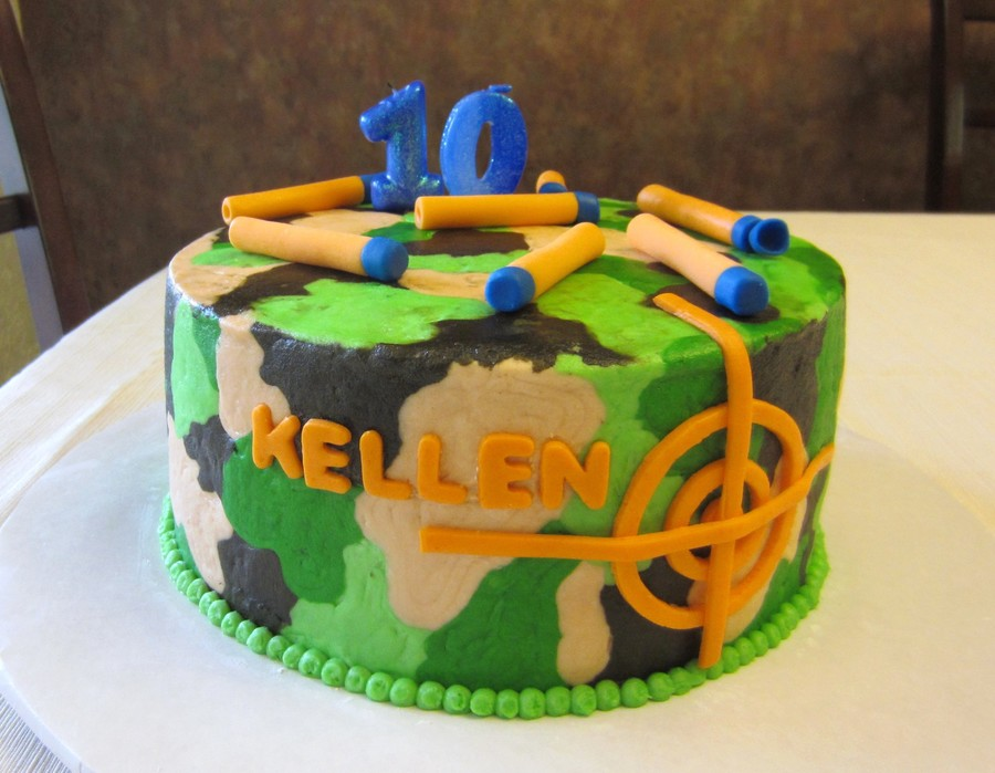 Nerf Birthday Party Cake