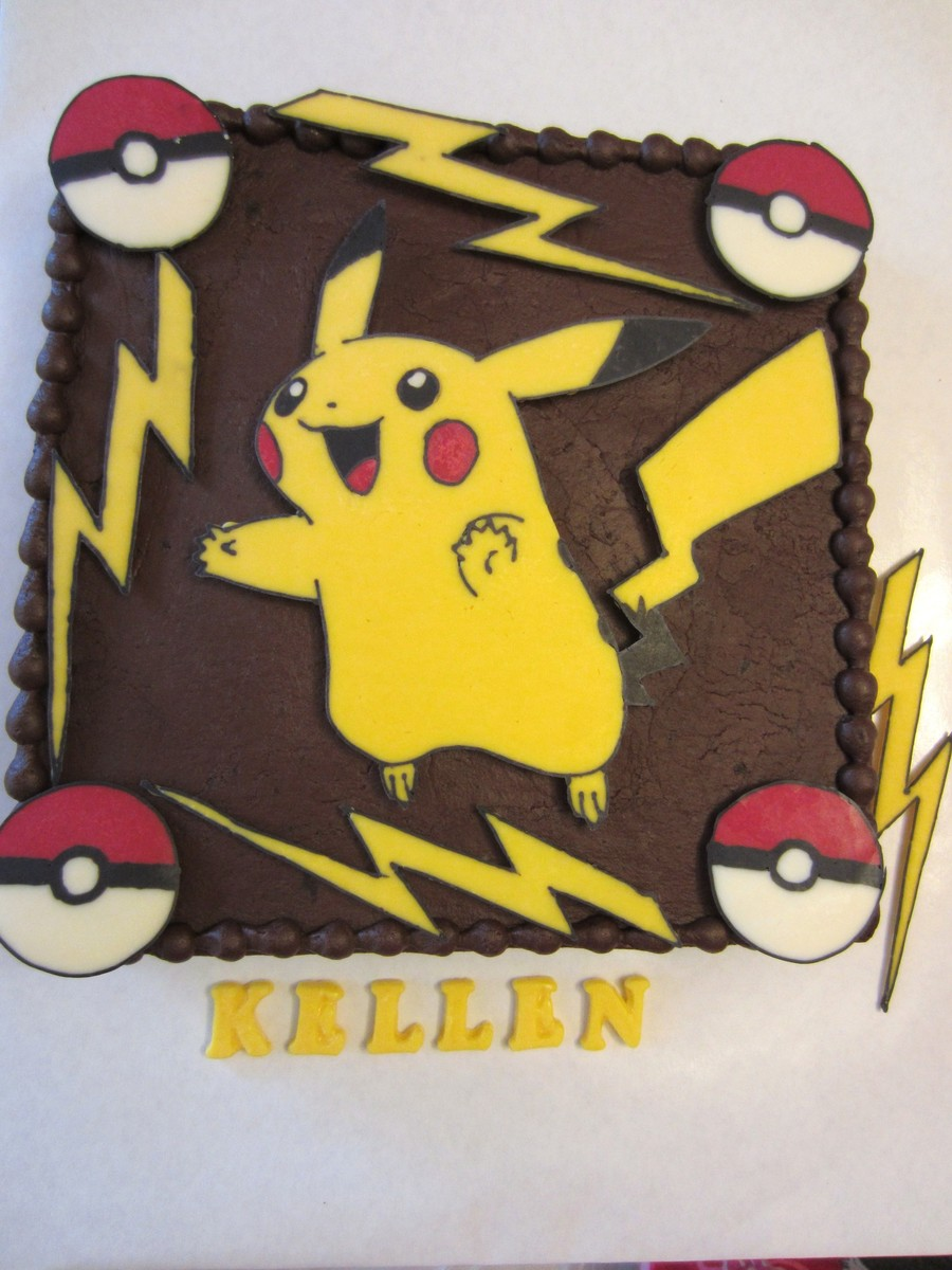 Pikachu Cookie Cake