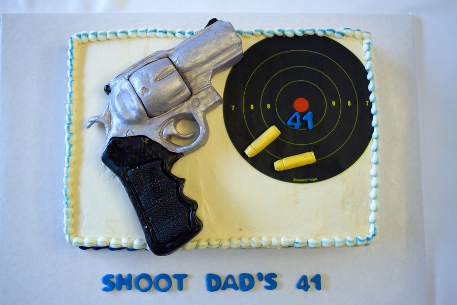 Super Redhawk 44 Magnum Caliber Pistol Cake on Cake Central