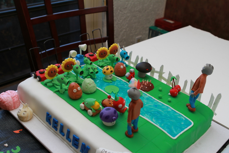Plants Vs Zombies Birthday Cake CakeCentralcom