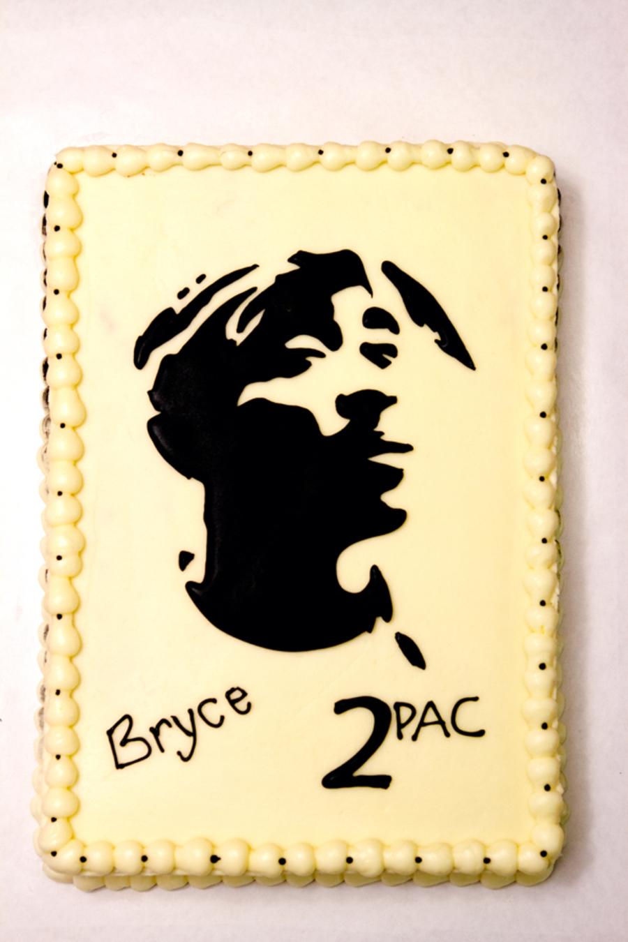 Tupac Birthday Cake