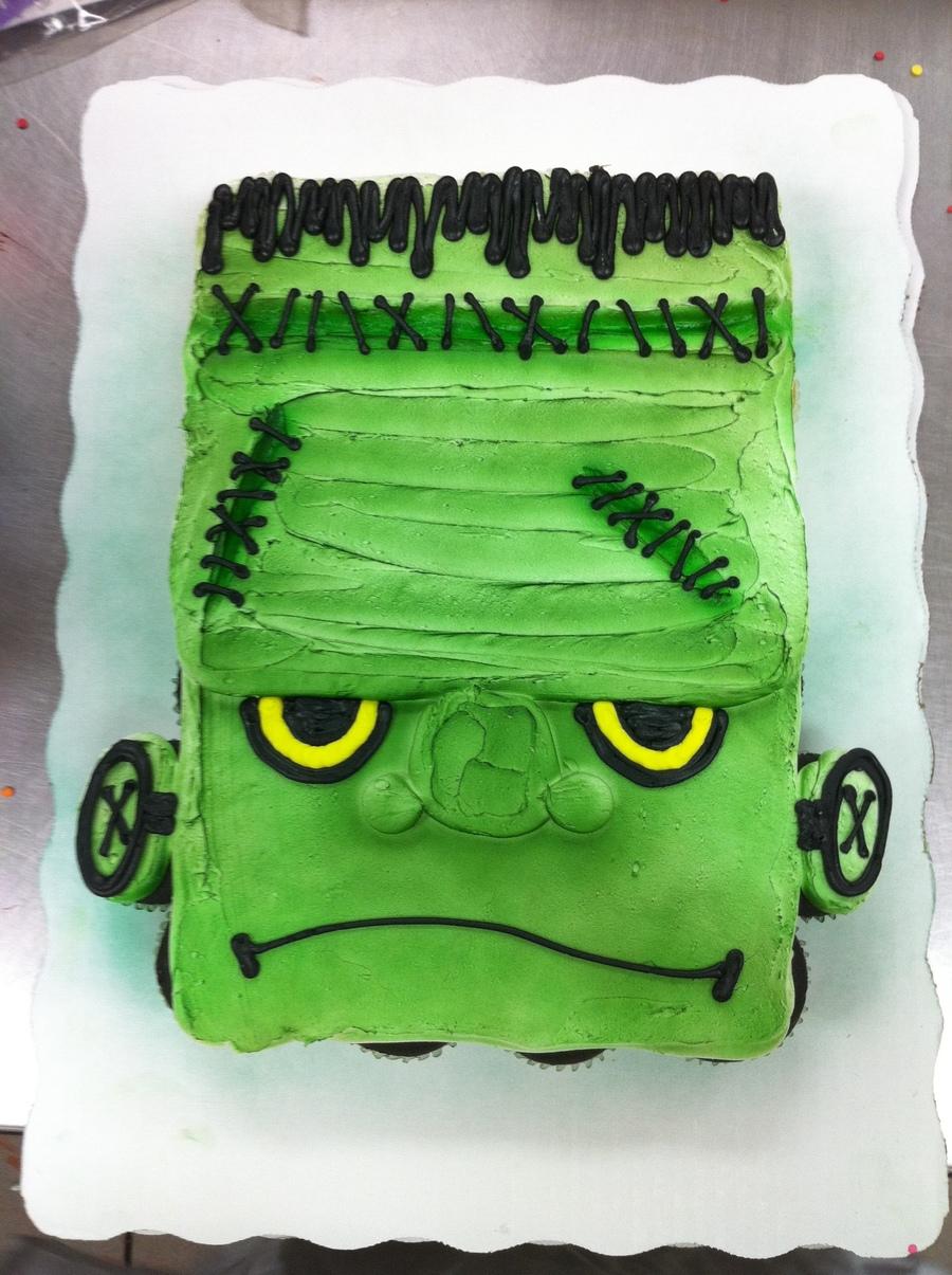 Frankenstein Cupcake Cake Cakecentral Com