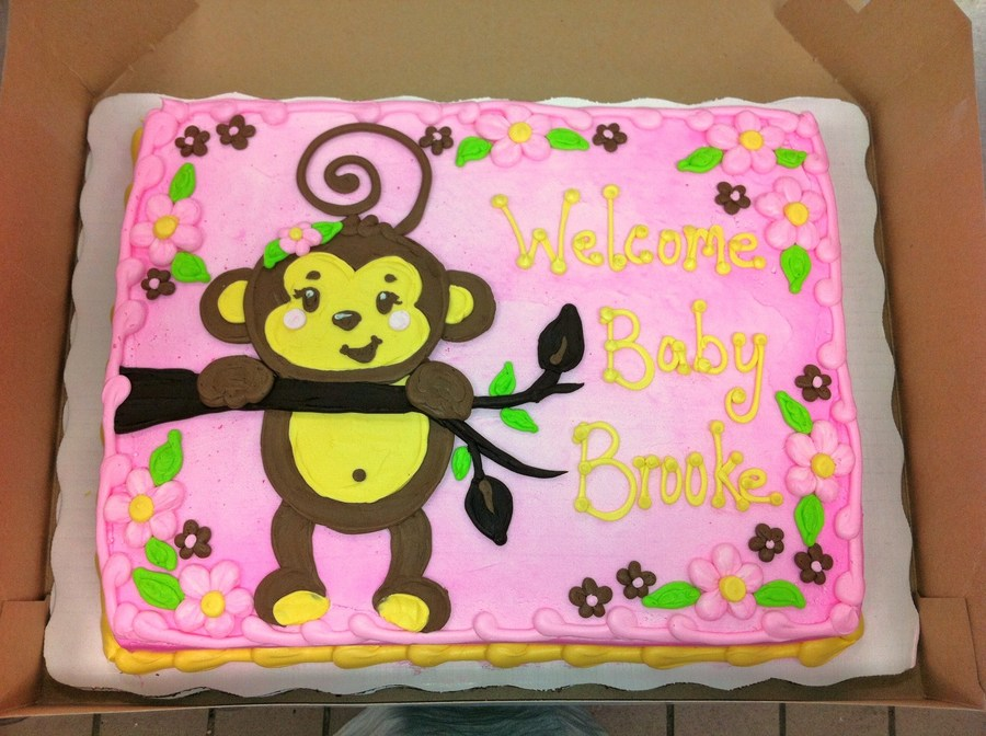 Amazing Girl Monkey Baby Shower Cake On Cake Central