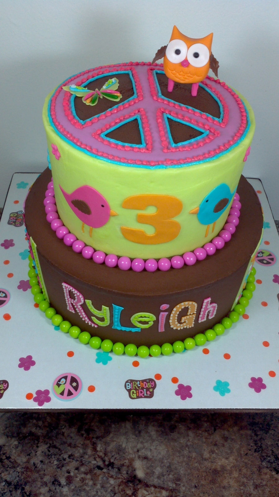 Peace Sign Decorations For Cakes