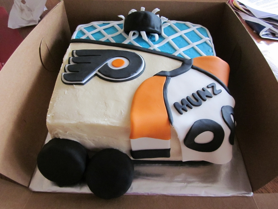 Flyers Hockey Cake on Cake Central