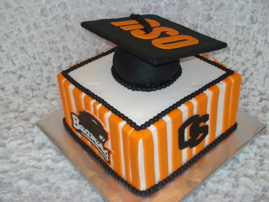 Osu Graduation Cake on Cake Central