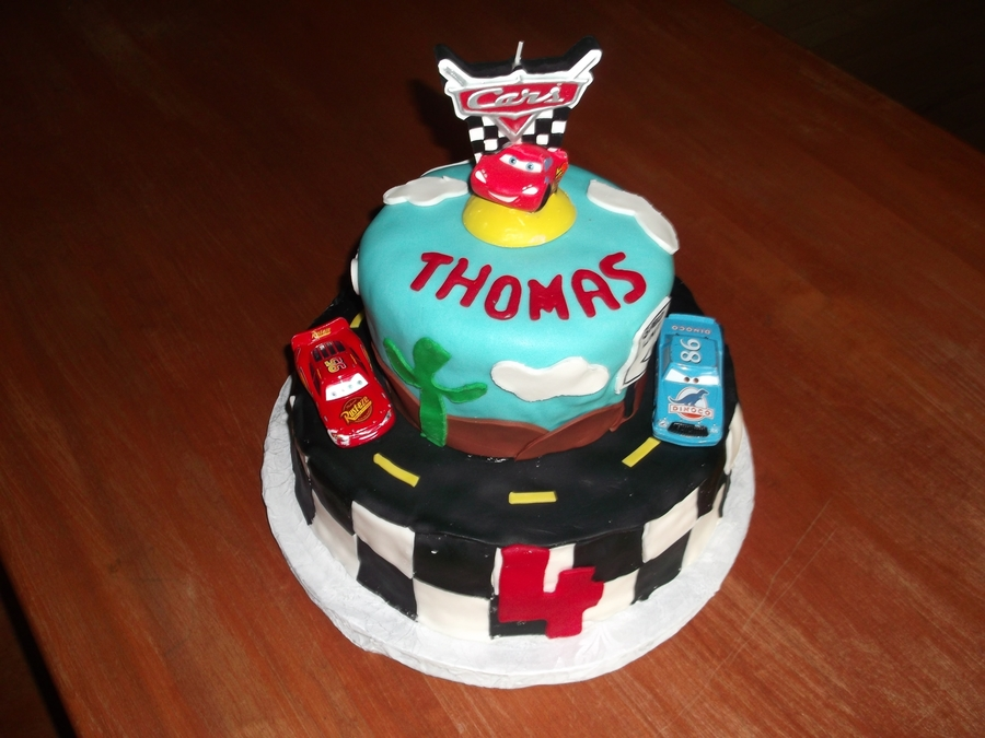 Cars Theme Birthday Cake on Cake Central