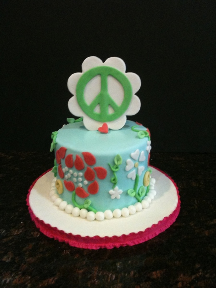 Peace And Flowers6 Cake on Cake Central