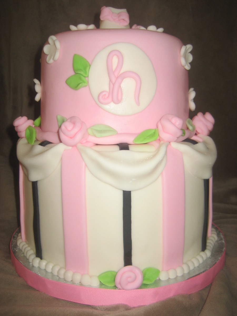 Pink Baby Bootie Cake Topper
