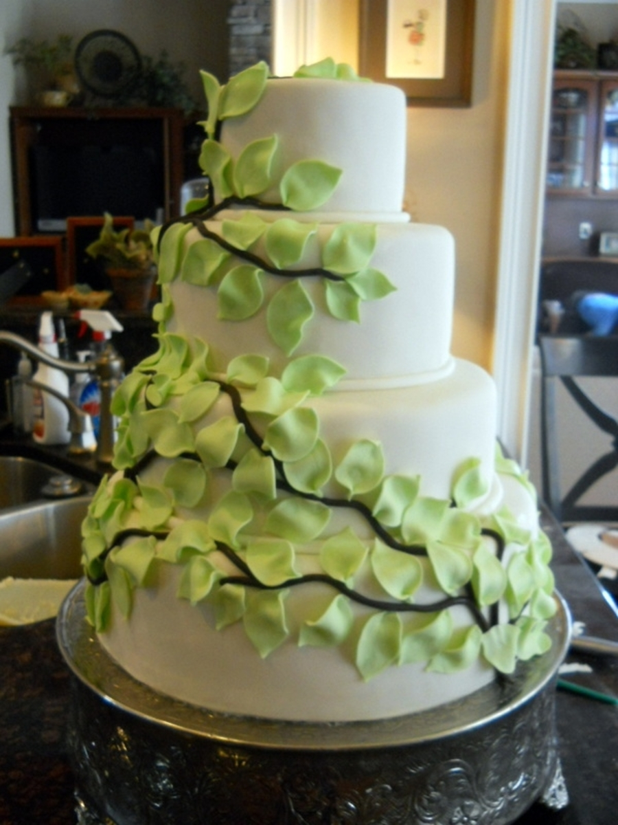 Leaves And Vines Wedding on Cake Central
