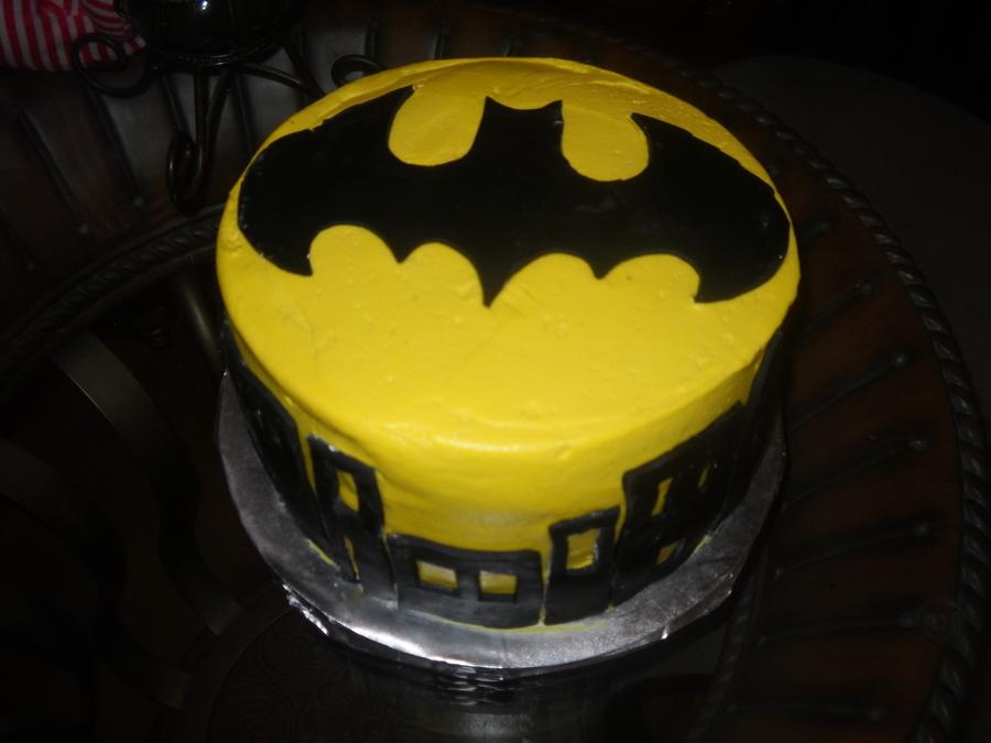 Simple Batman CakeCentralcom