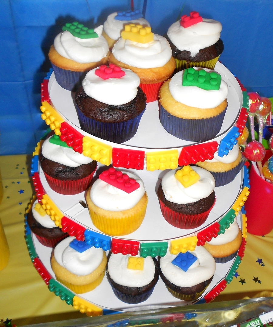 Lego Cupcakes  on Cake Central