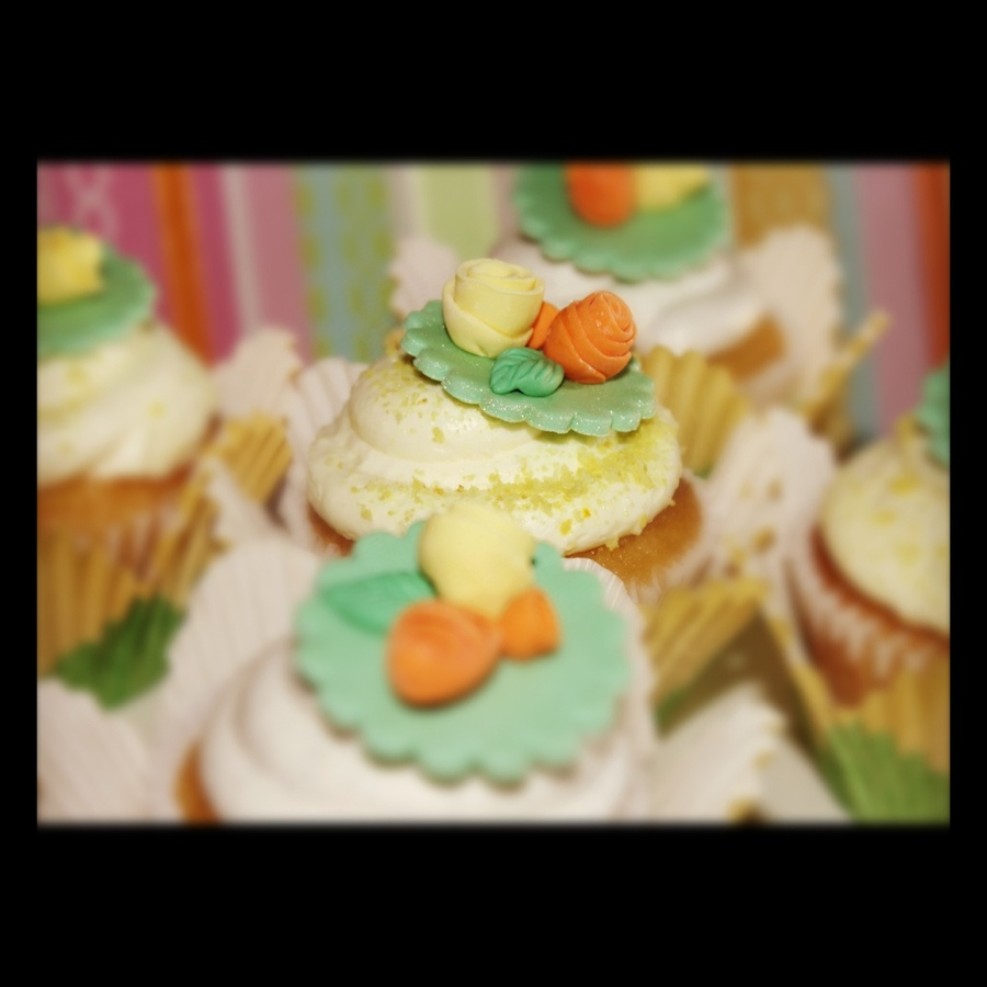 Flowered Cupcakes on Cake Central