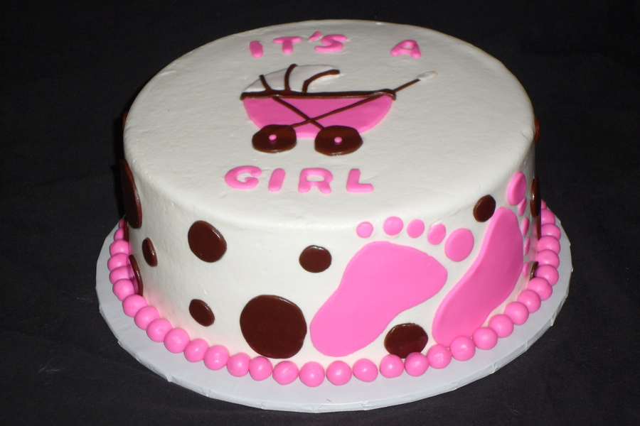 pink its a girl baby shower cake cakecentral com