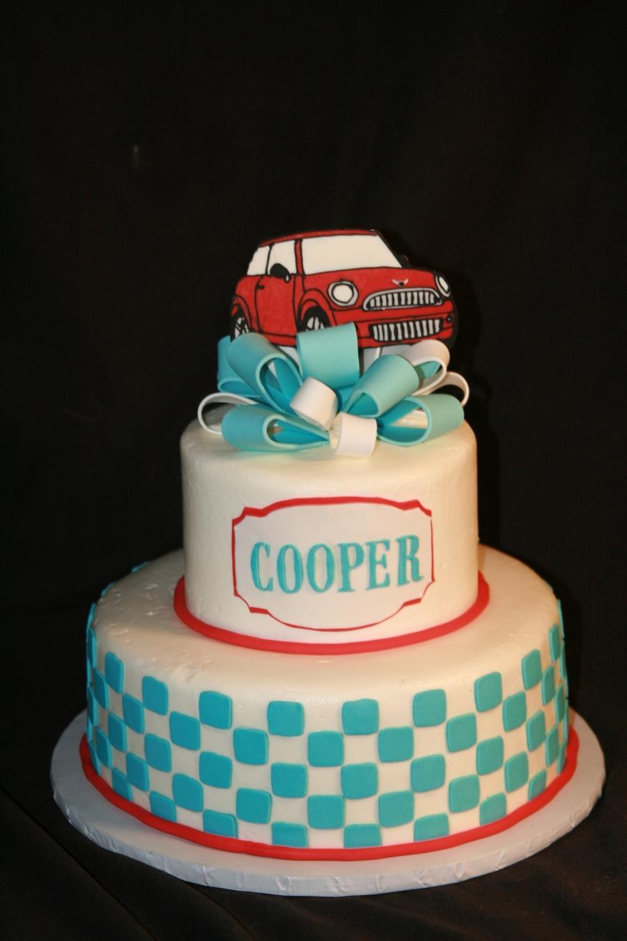 Mini Cooper Birthday Cake - CakeCentral.com