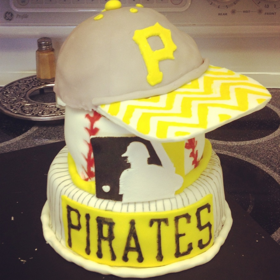 Amazing Girls 20Th Birthday Cake Pittsburgh Pirates Cakecentral Com Funny Birthday Cards Online Aeocydamsfinfo