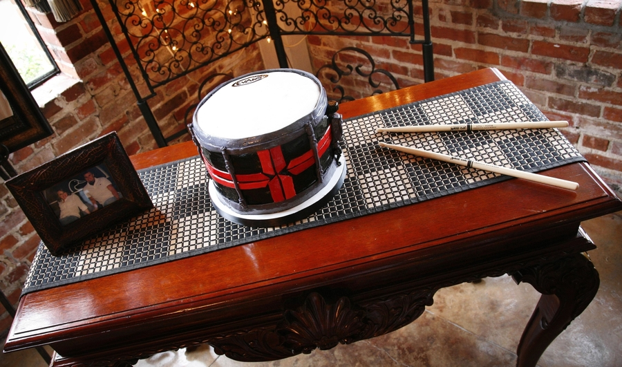 Groom's Drum Cake on Cake Central