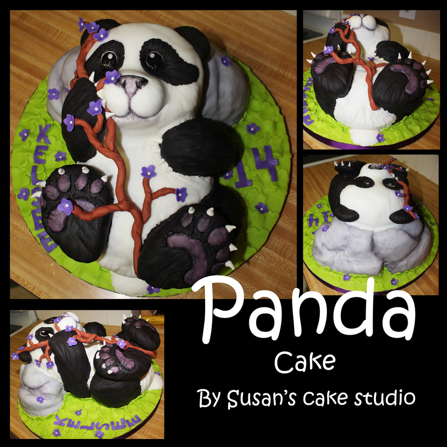 3D Panda on Cake Central