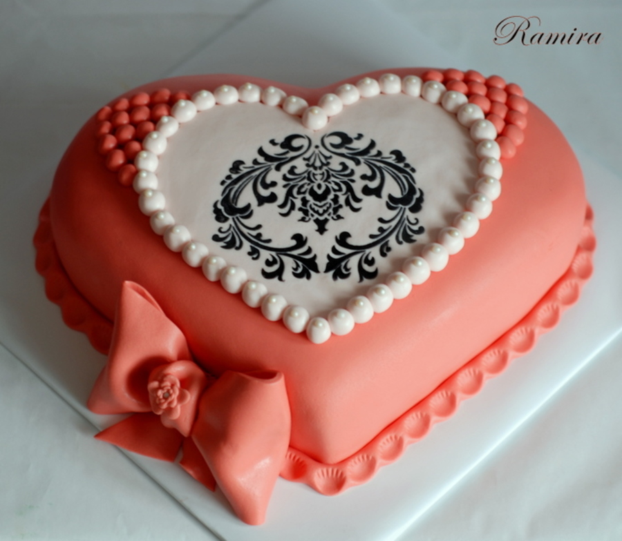 Heart Shaped Birthday Cake On Central