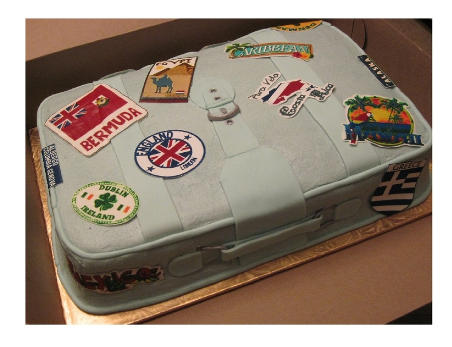 Big Bertha Suitcase on Cake Central