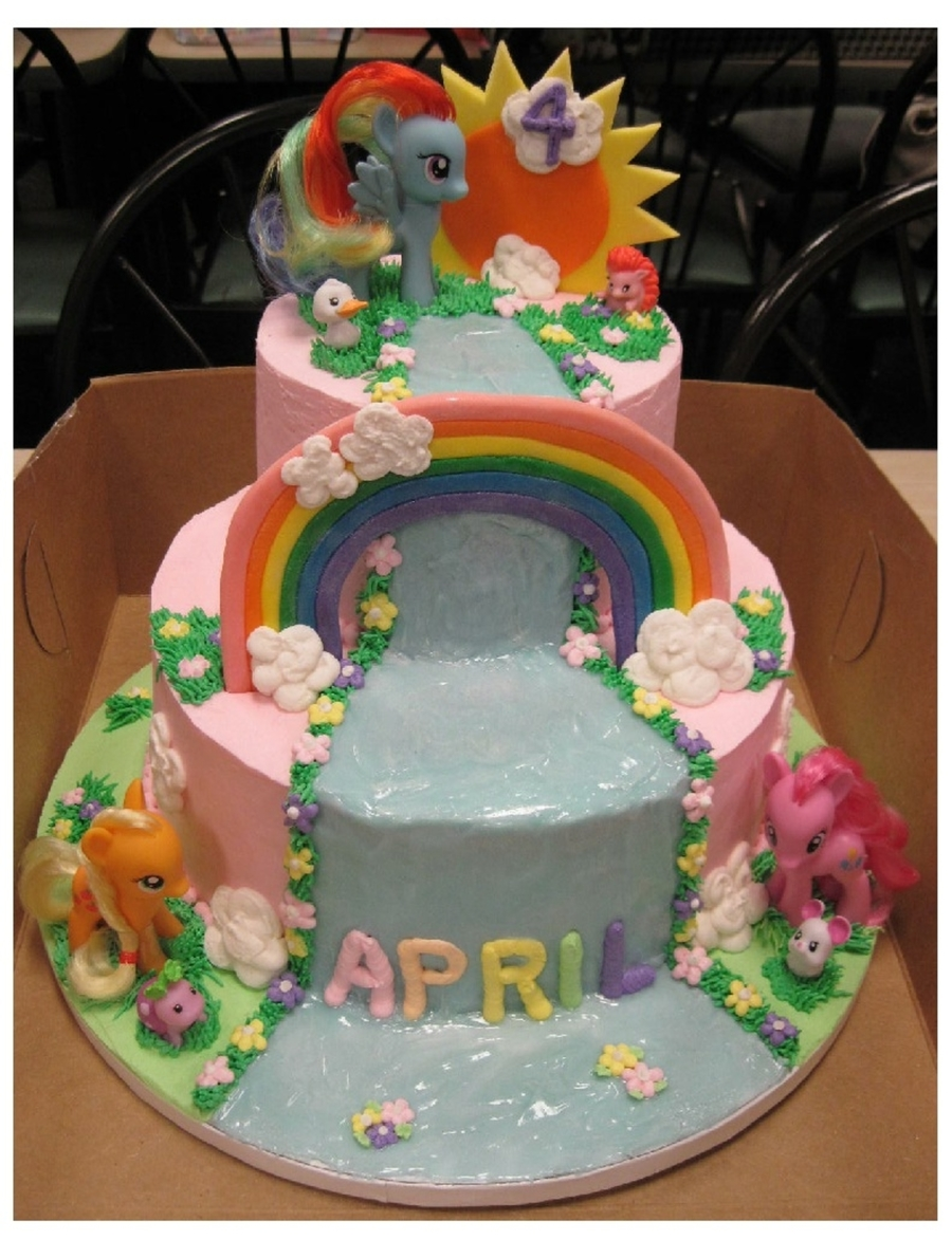My Little Pony Tiered Cake on Cake Central