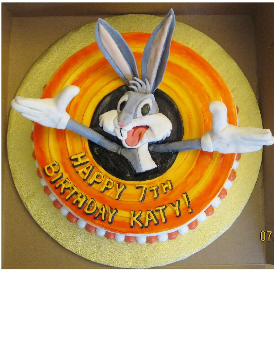 Marvelous Bugs Bunny Birthday Cake Cakecentral Com Birthday Cards Printable Trancafe Filternl