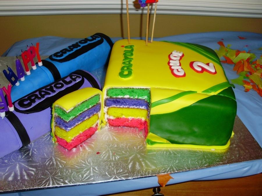 Crayola Birthday Cake
