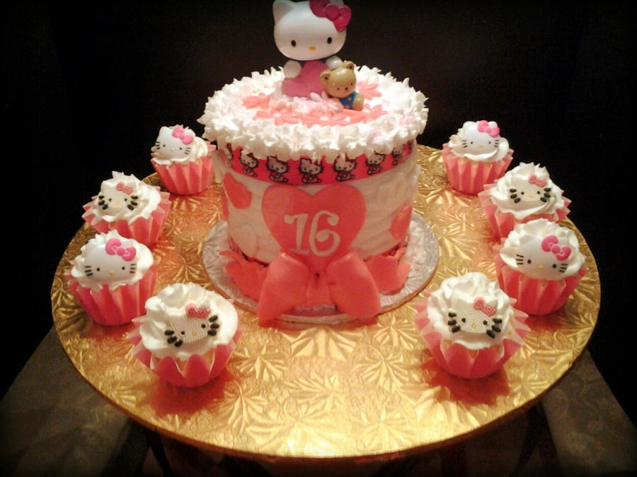 Hello Kitty Sweet Sixteen on Cake Central
