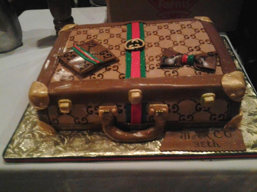 Gucci Briefcase Birthday Cake Cakecentral Com