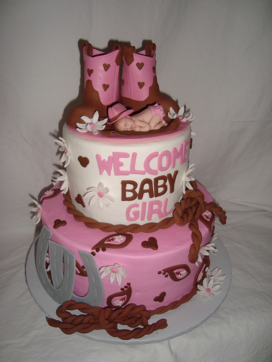 baby shower pink boot cowgirl baby shower first impression baby shower