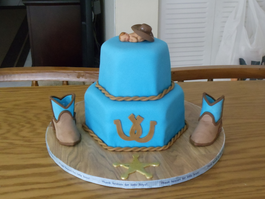 Western Baby Shower Cake On Cake Central