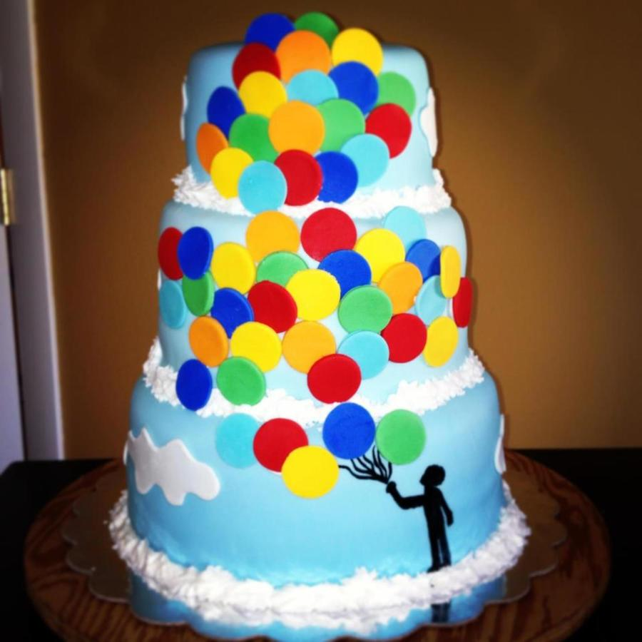 Outstanding Balloon Cake Boy Birthday Cakecentral Com Funny Birthday Cards Online Chimdamsfinfo