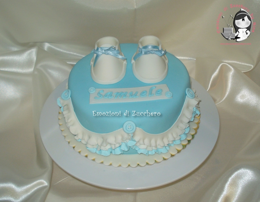 Baby Shoes Boy on Cake Central