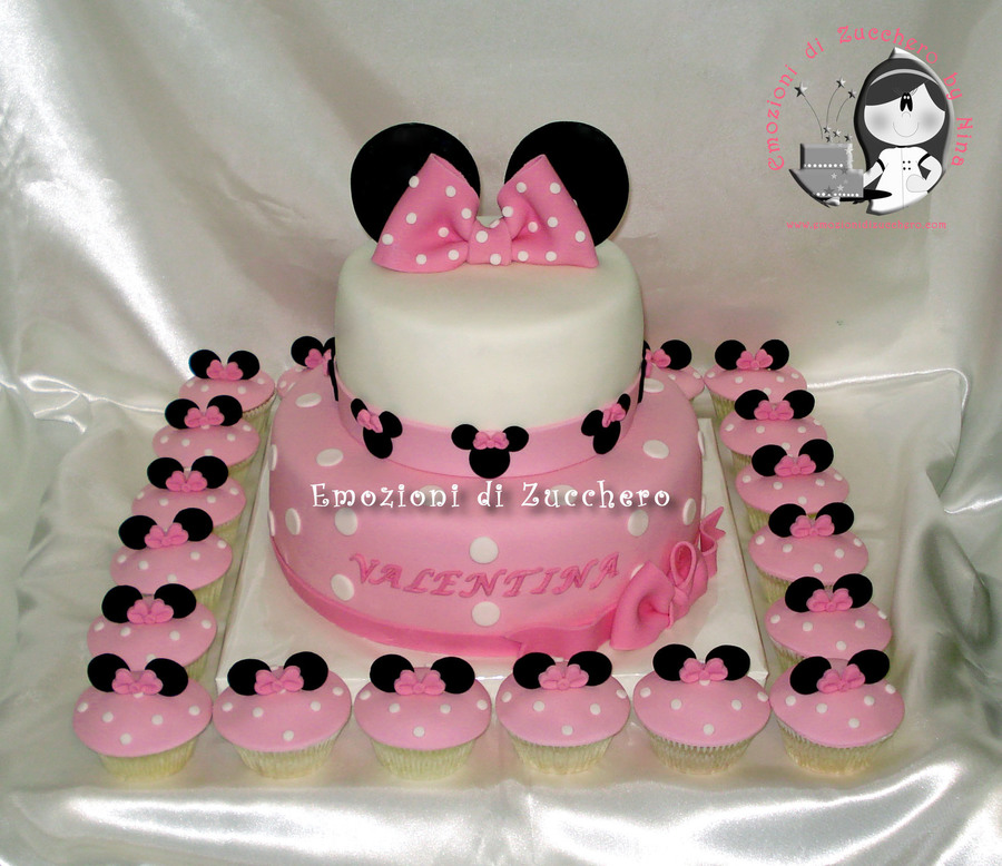 Minnie Pink Cake And Cupcakes on Cake Central