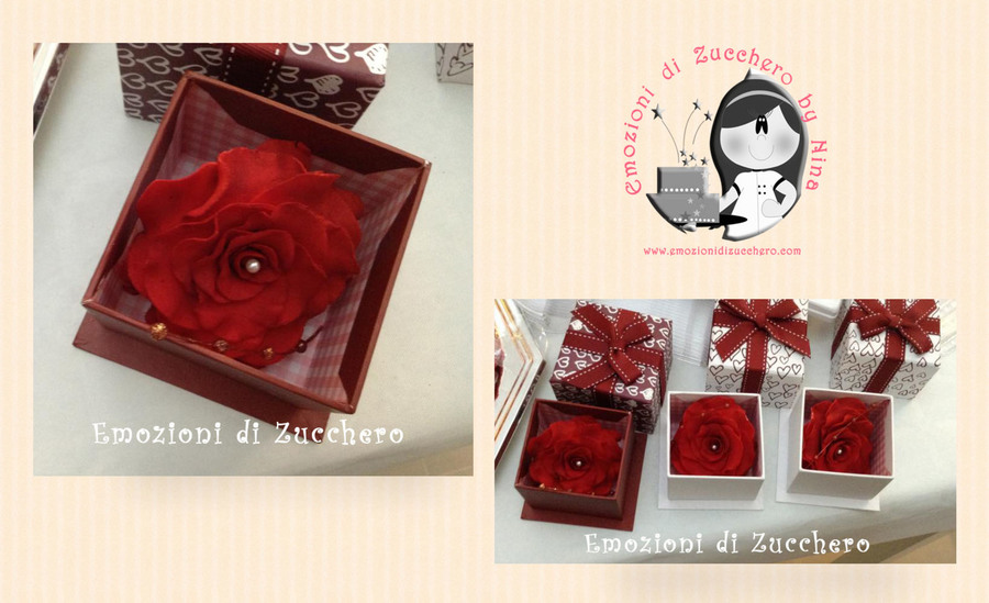 Red Roses In A Box  on Cake Central