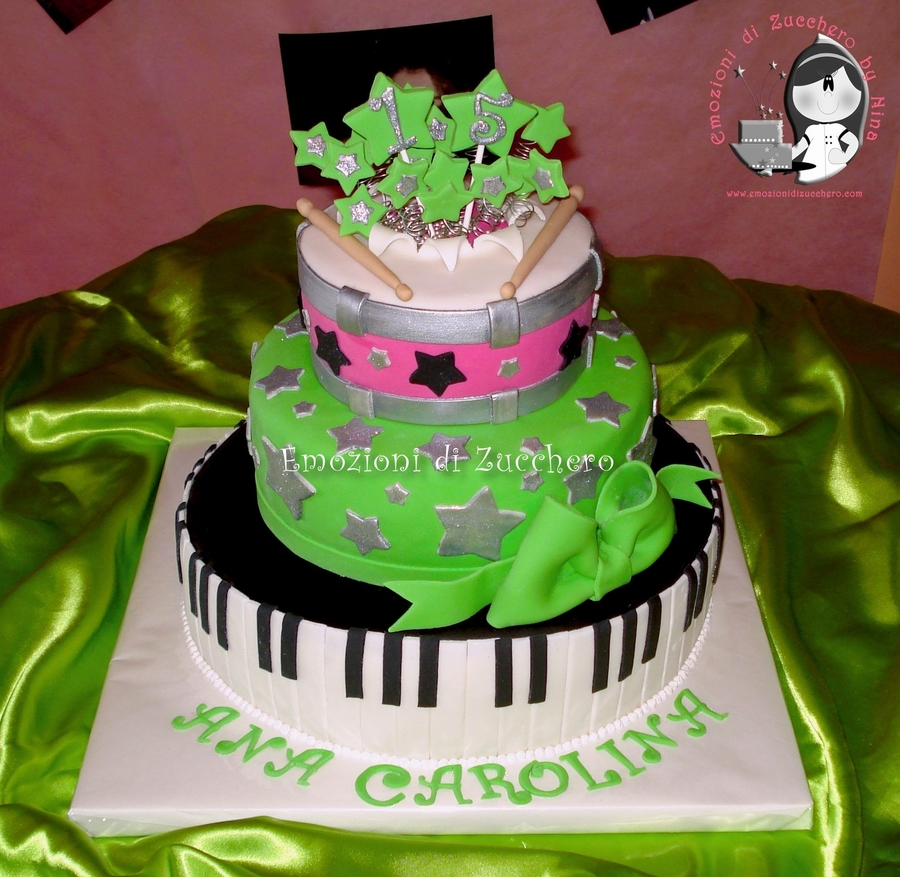Musical Rock Star on Cake Central
