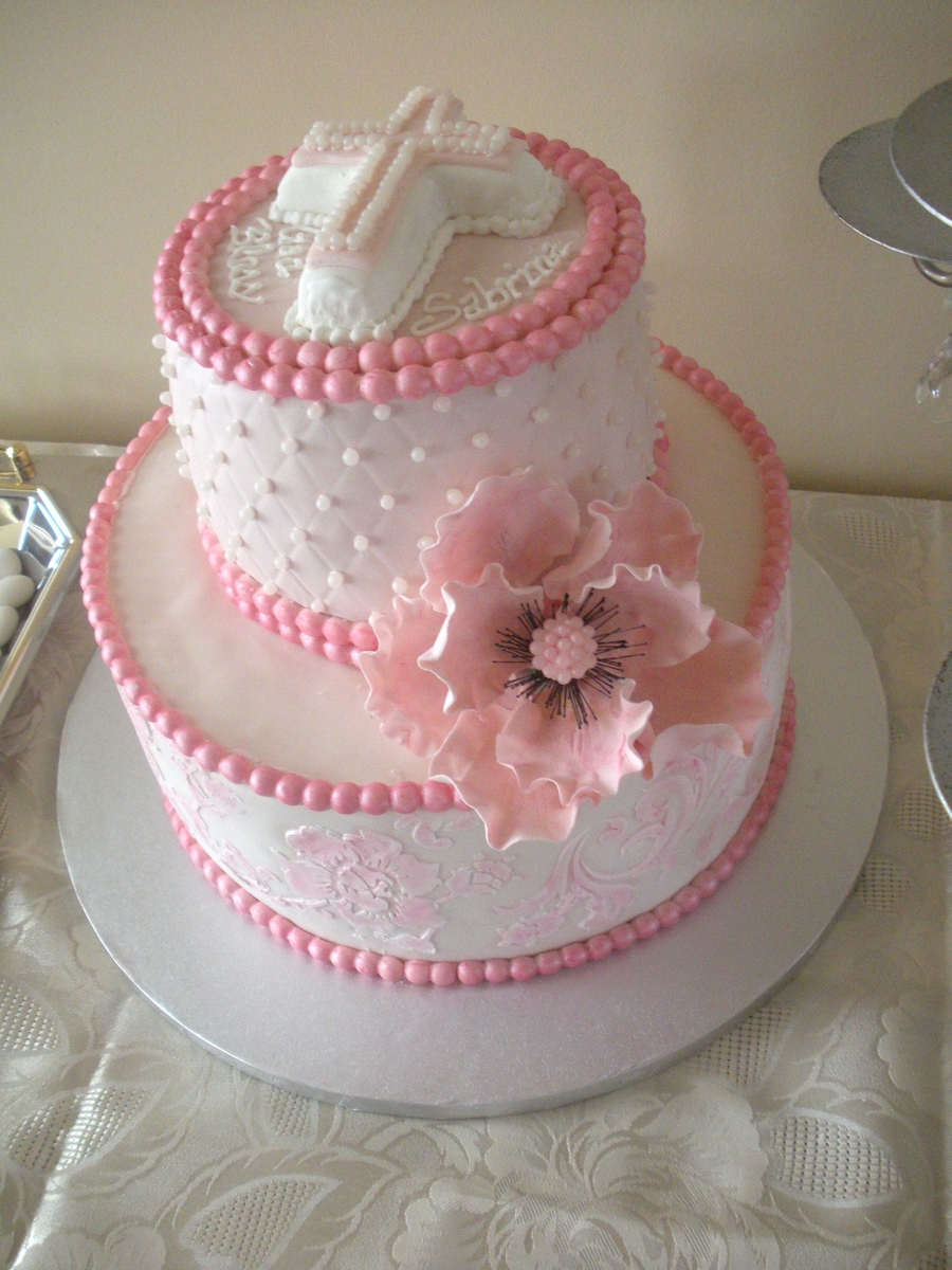 Communion Cake Pink Cakecentral Com