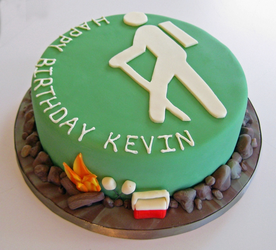 Hiking Cake: Birthday Cake For A Hiker