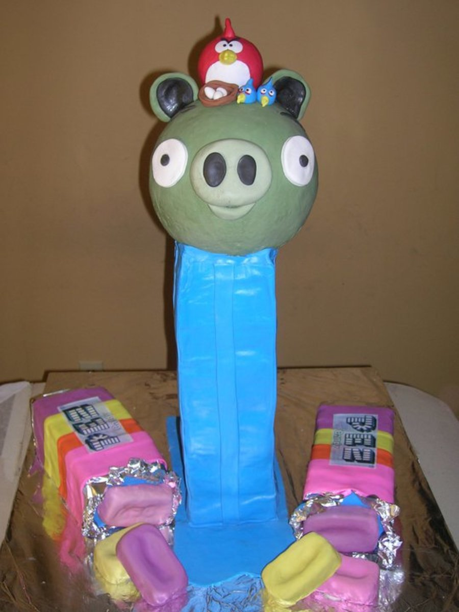 Angry Birds Pez Cake on Cake Central