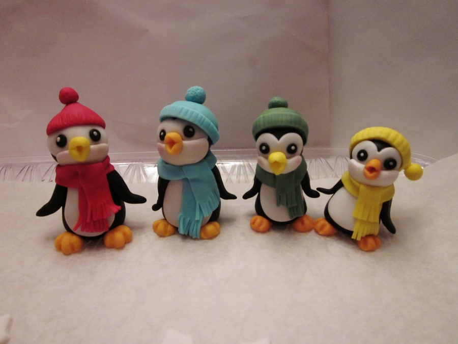 My First Try At Penguins I Made Them For My Sons 1St Birthday Cake That Ill Be Doing This Week Tfl Hete Is The Link To The Tutorial Th on Cake Central